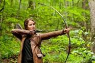 "Katniss Everdeen, the screen character from Suzanne Collins novel trilogy, ""The Hunger Games."""